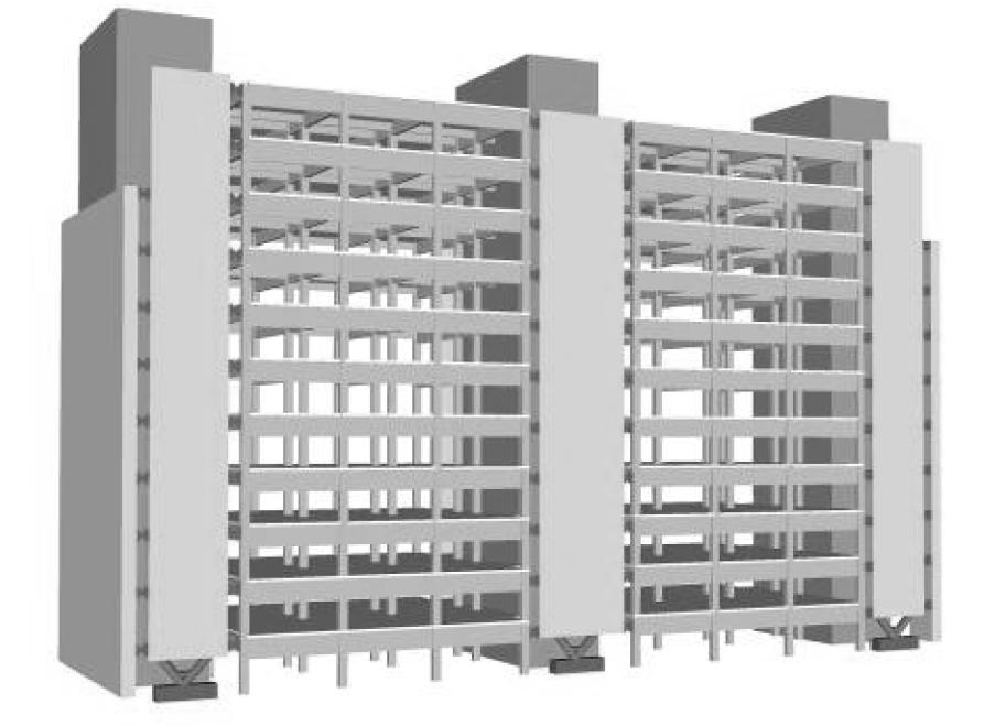 G3 教学楼在加固后的结构示意图