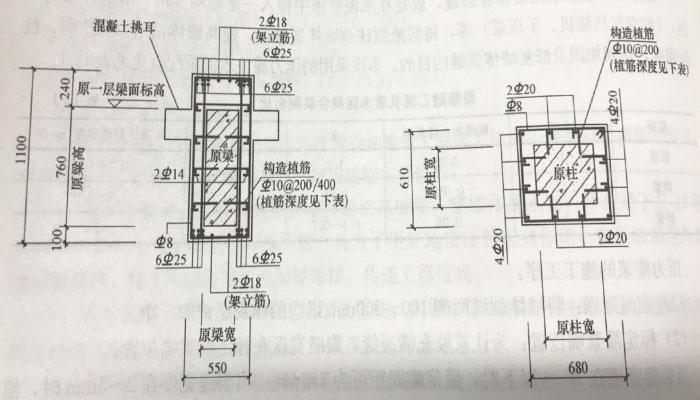 混凝土围套加固原混凝土梁柱构造图